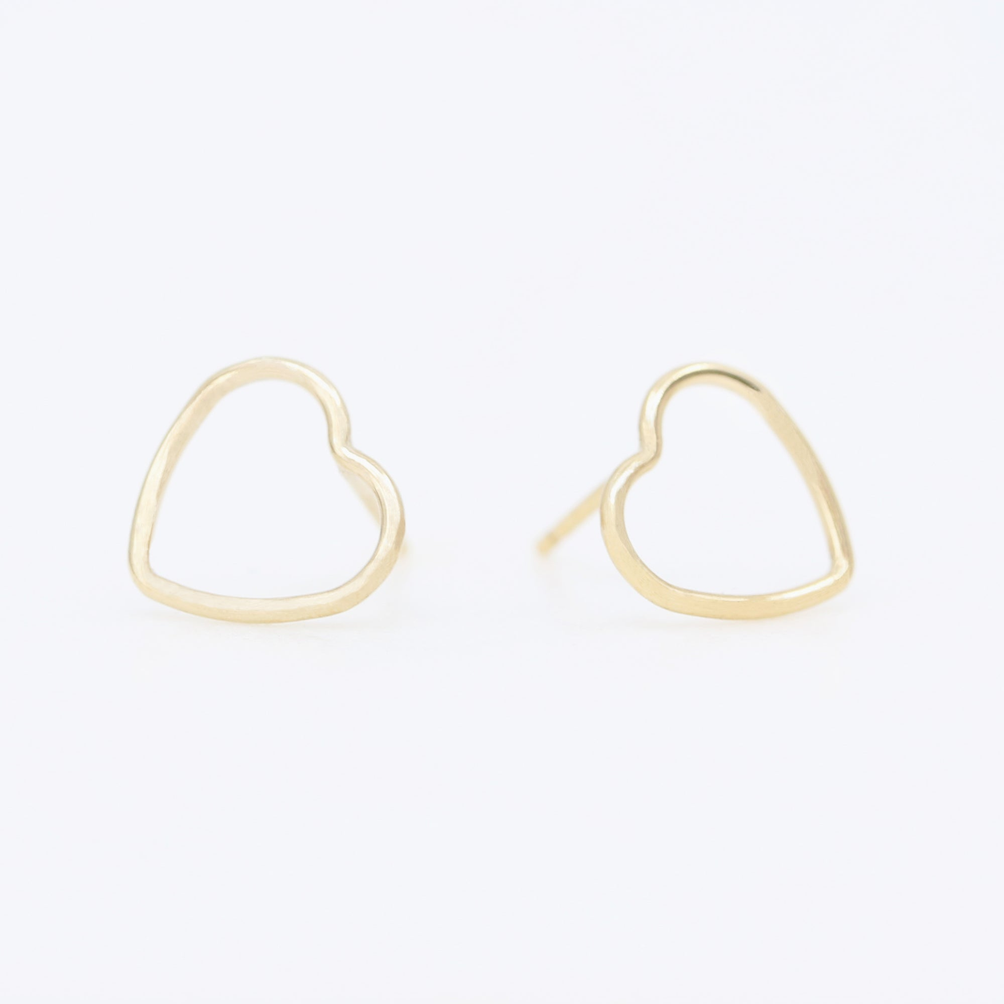 Golden Heart Earrings | Gold
