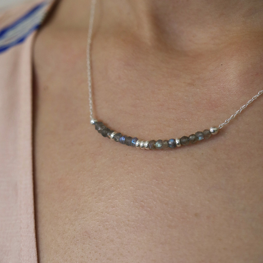 Aligned and Charmed Necklace | Labradorite and Silver