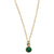 Charmed by Emerald Mini Necklace | Emerald and Gold