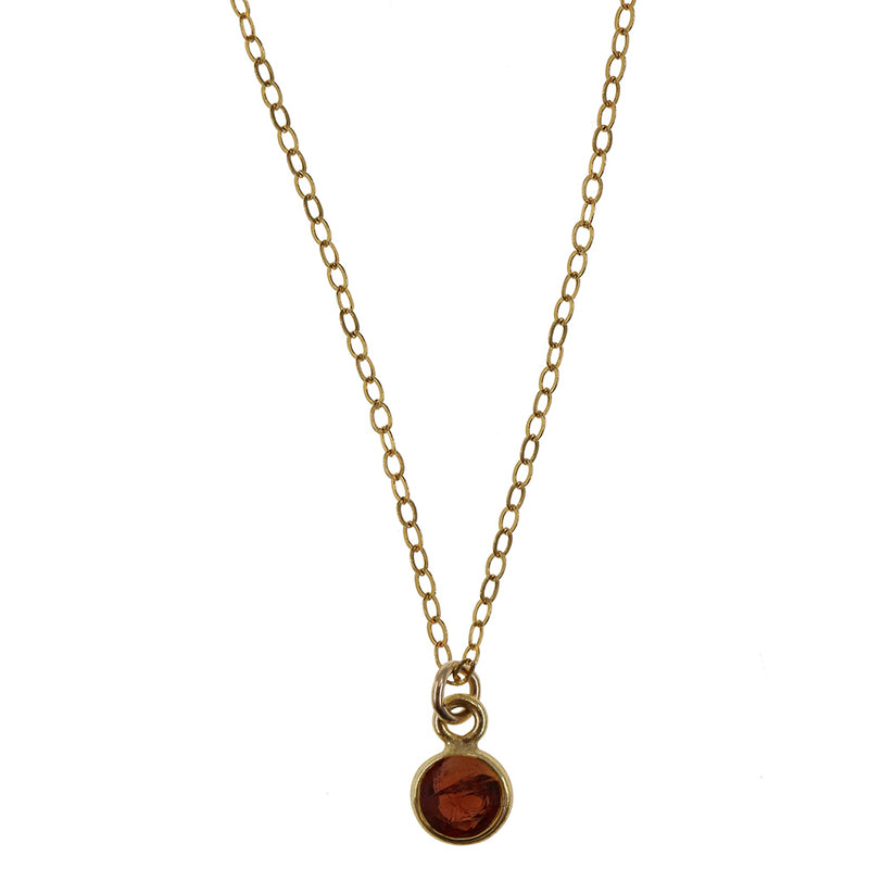 Charmed with Strength MINI | Garnet and 14K Gold