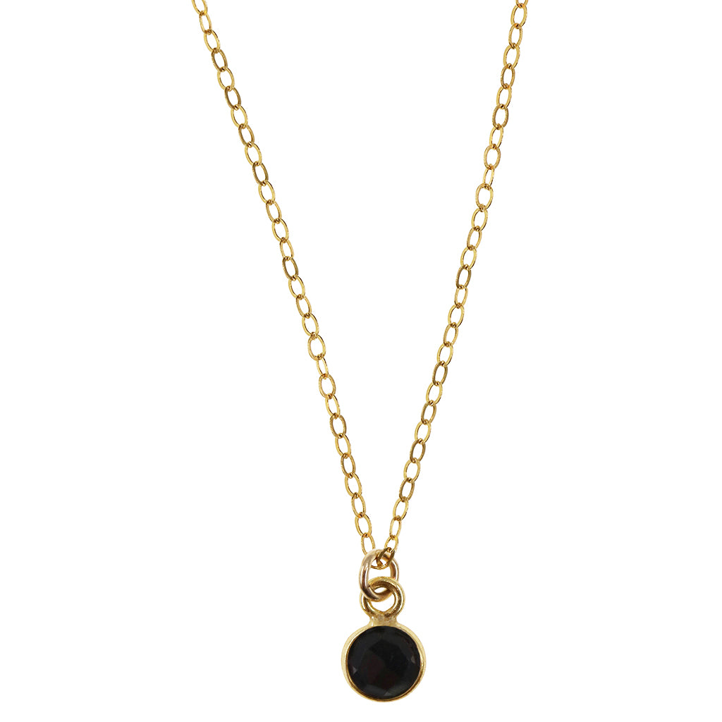 Charmed and Protected Mini Necklace | Onyx and Gold