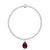 Charmed with Strength Bracelet | Garnet and Sterling Silver