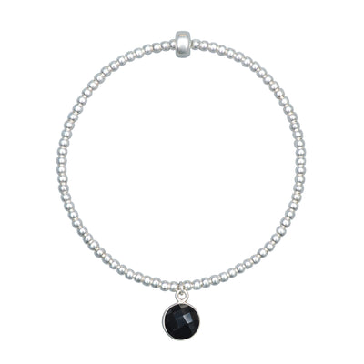 Charmed and Protected Bracelet | Onyx and Sterling Silver
