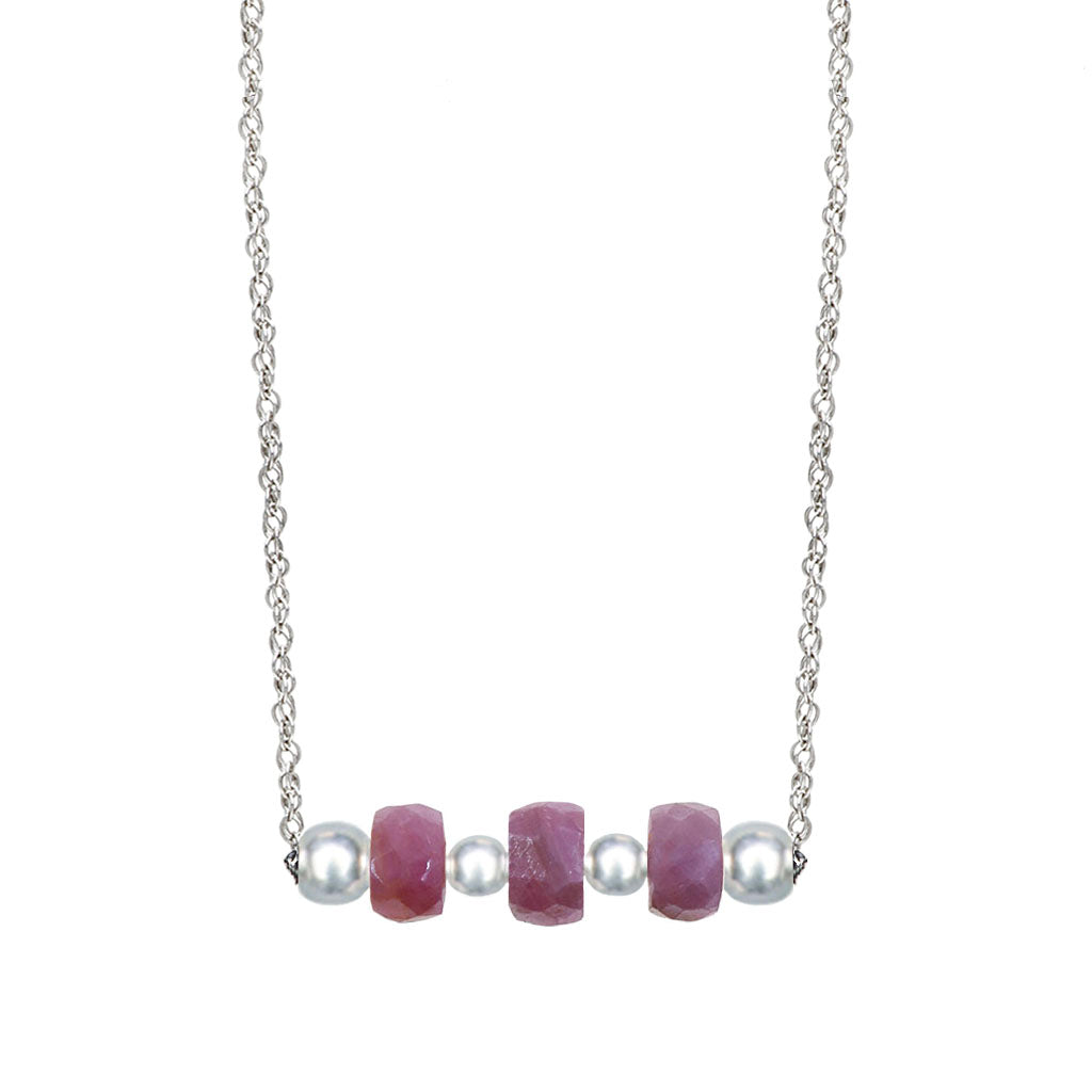The Catherine | Pink Sapphire and Sterling Silver