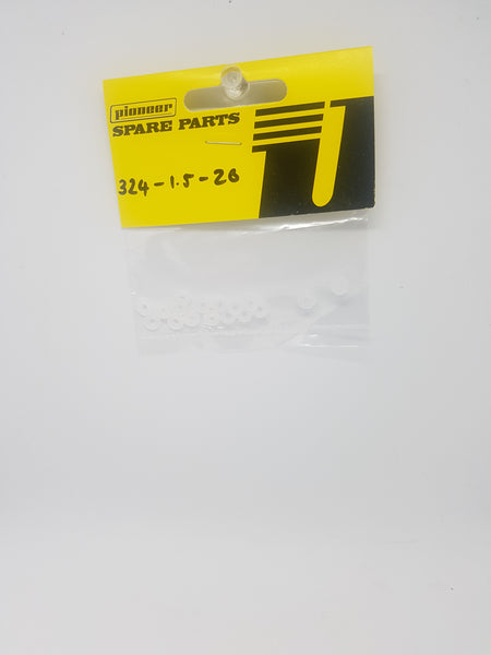 Pioneer axel shims 1.5 pack of 20