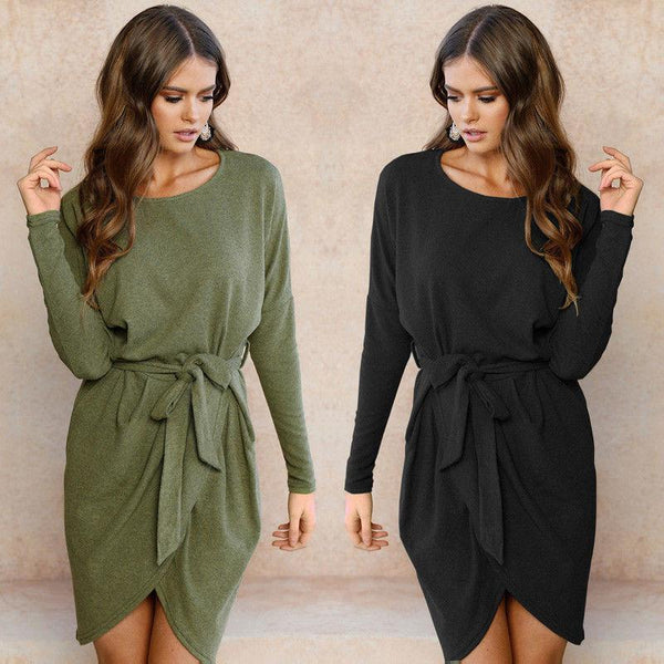 Debbie™ - Long Sleeve Tunic Dress