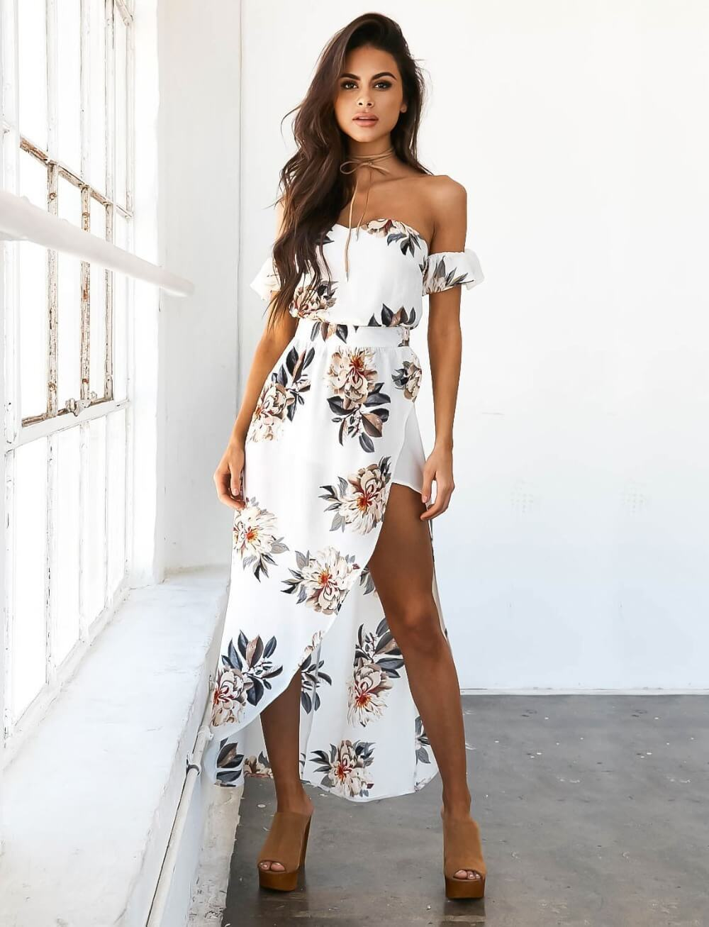 Alice™ - Off-shoulder Floral Maxi Dress