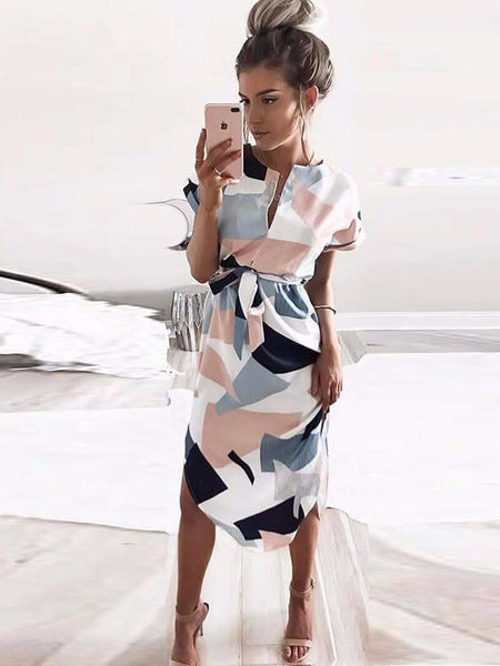 Sara™ - Geometric Pencil Dress