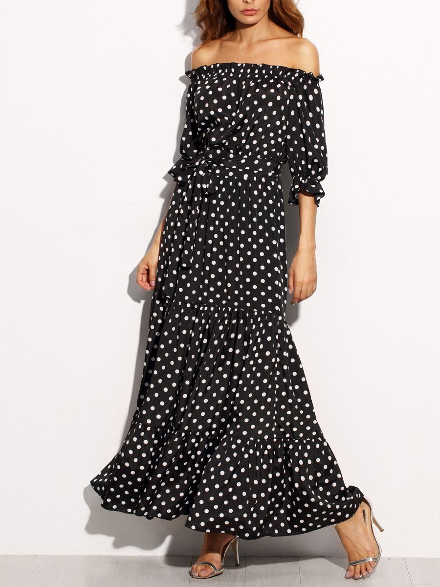 Anna Polka Dot Dress