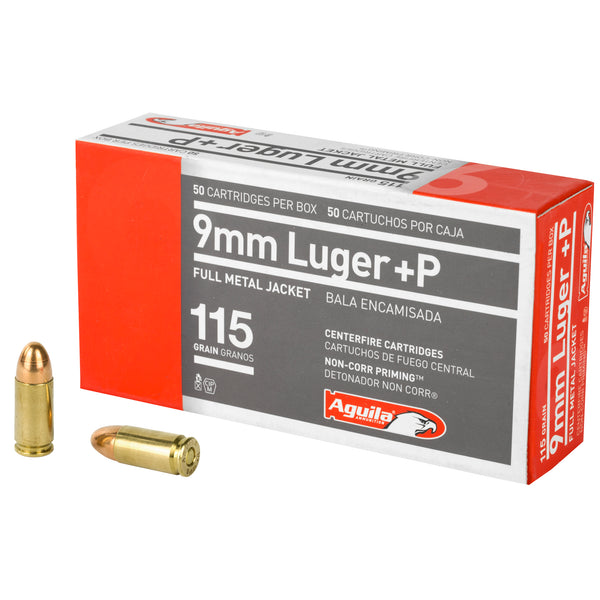 Aguila 9mm +p 115gr Fmj 50-1000