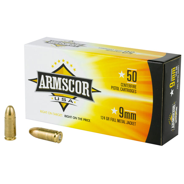Armscor 9mm 124gr Fmj 50-1000
