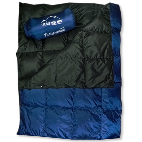 Lazy Bear Down Camping Blanket - 650 FP - Navy Black