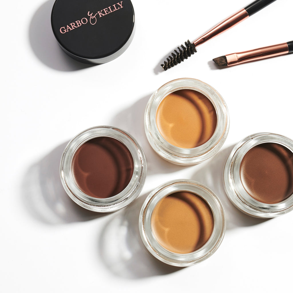 Garbo and Kelly vegan makeup cruelty free professional eyebrows lips brow pomade gel brush