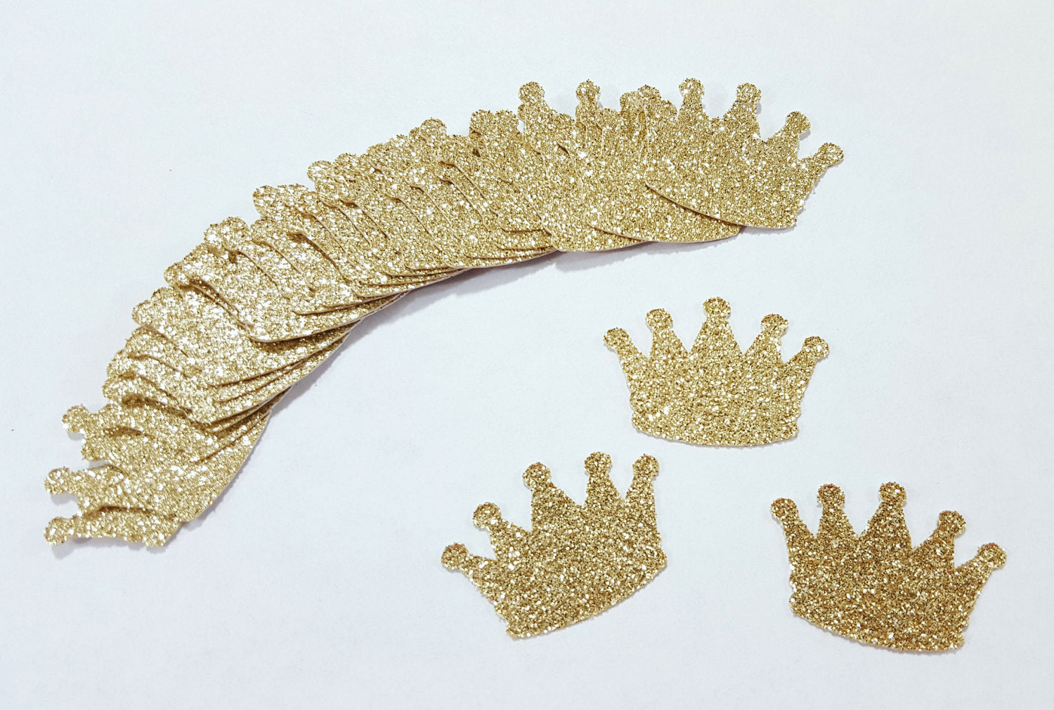 100 pcs Gold Glitter CROWNS Confetti / Princess Party Decorations / 10st  Birthday Party Decor / Little Prince Decor / Baby Shower Decorations