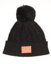 Cable Beanie Black