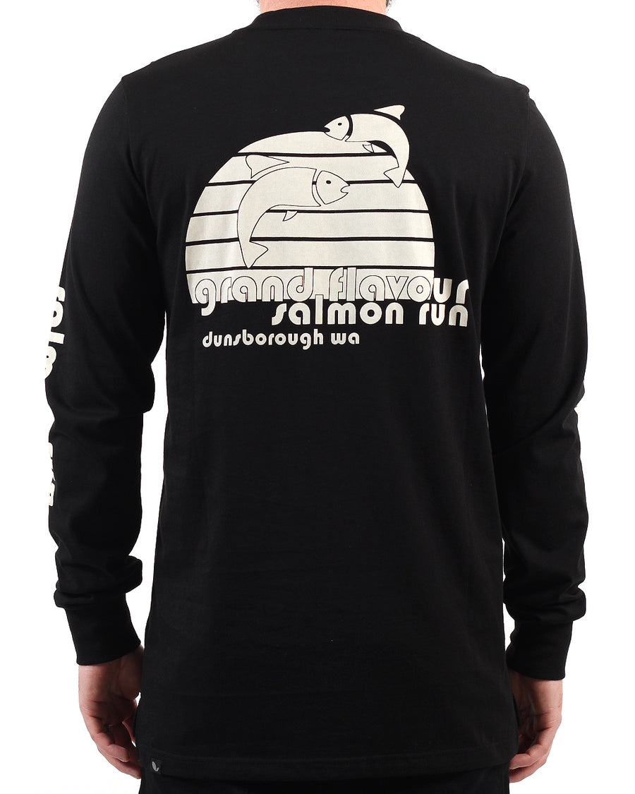 Salmon LS Tee Black