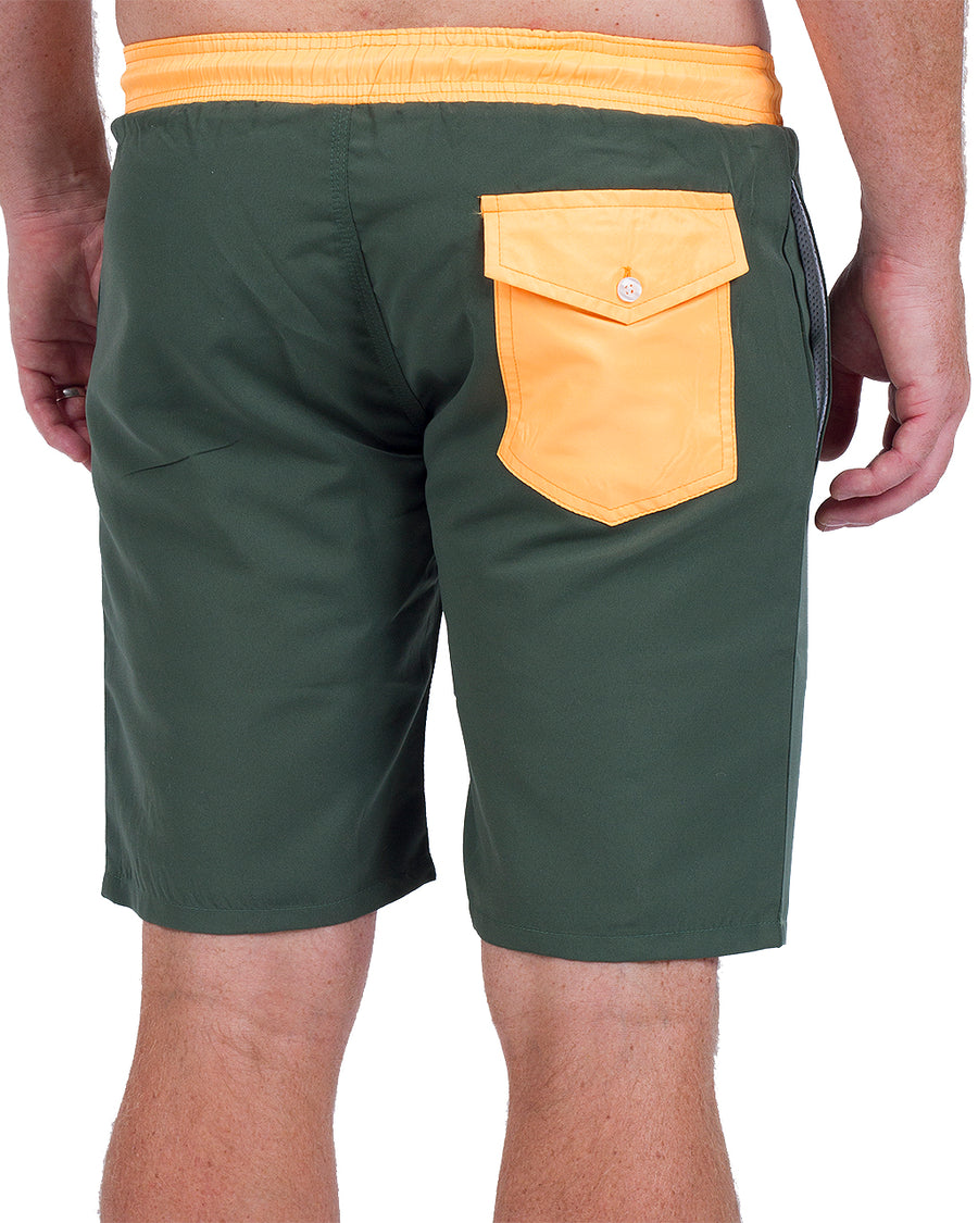 Two-Up Short Green/Orange