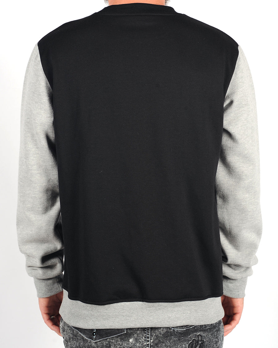 Lazy Logo Crew Black/Misty Grey