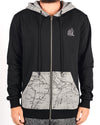 Bandito Zip Hood Black
