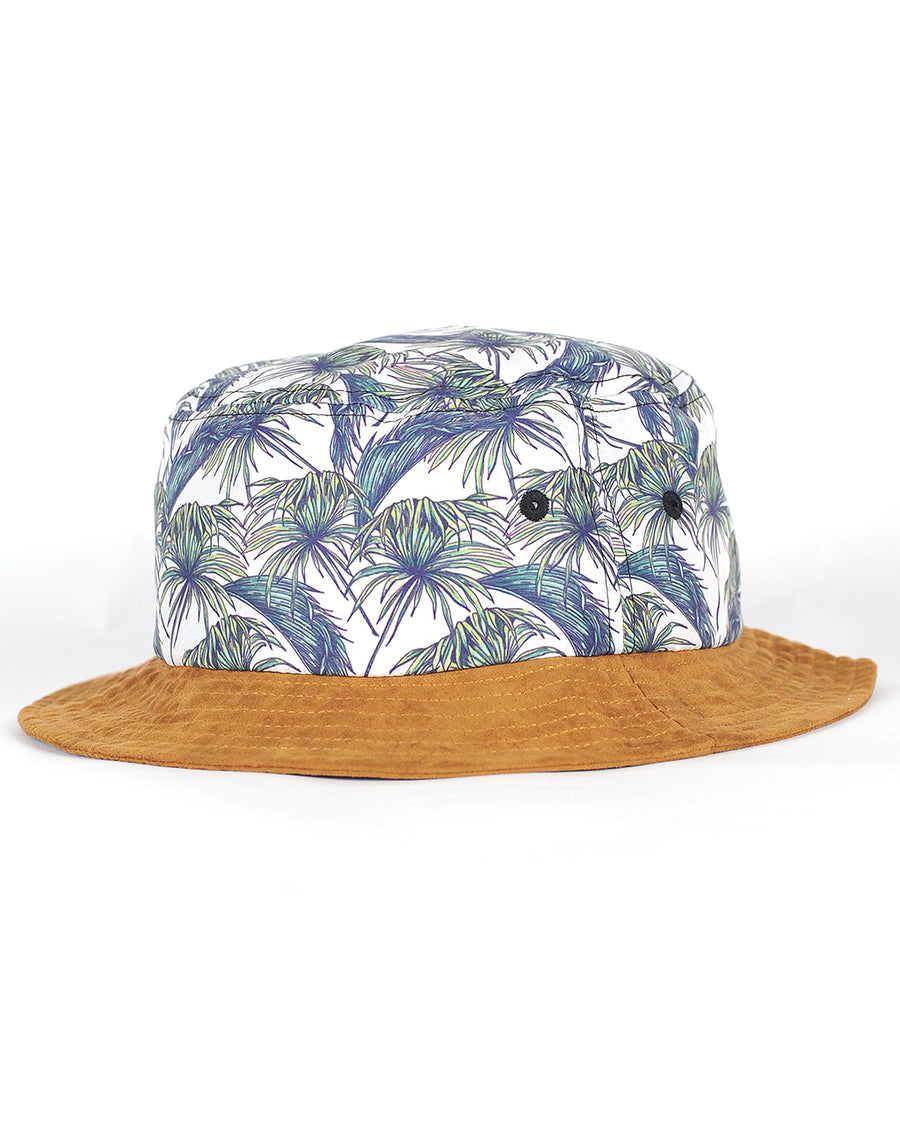 Fern Bucket Hat White