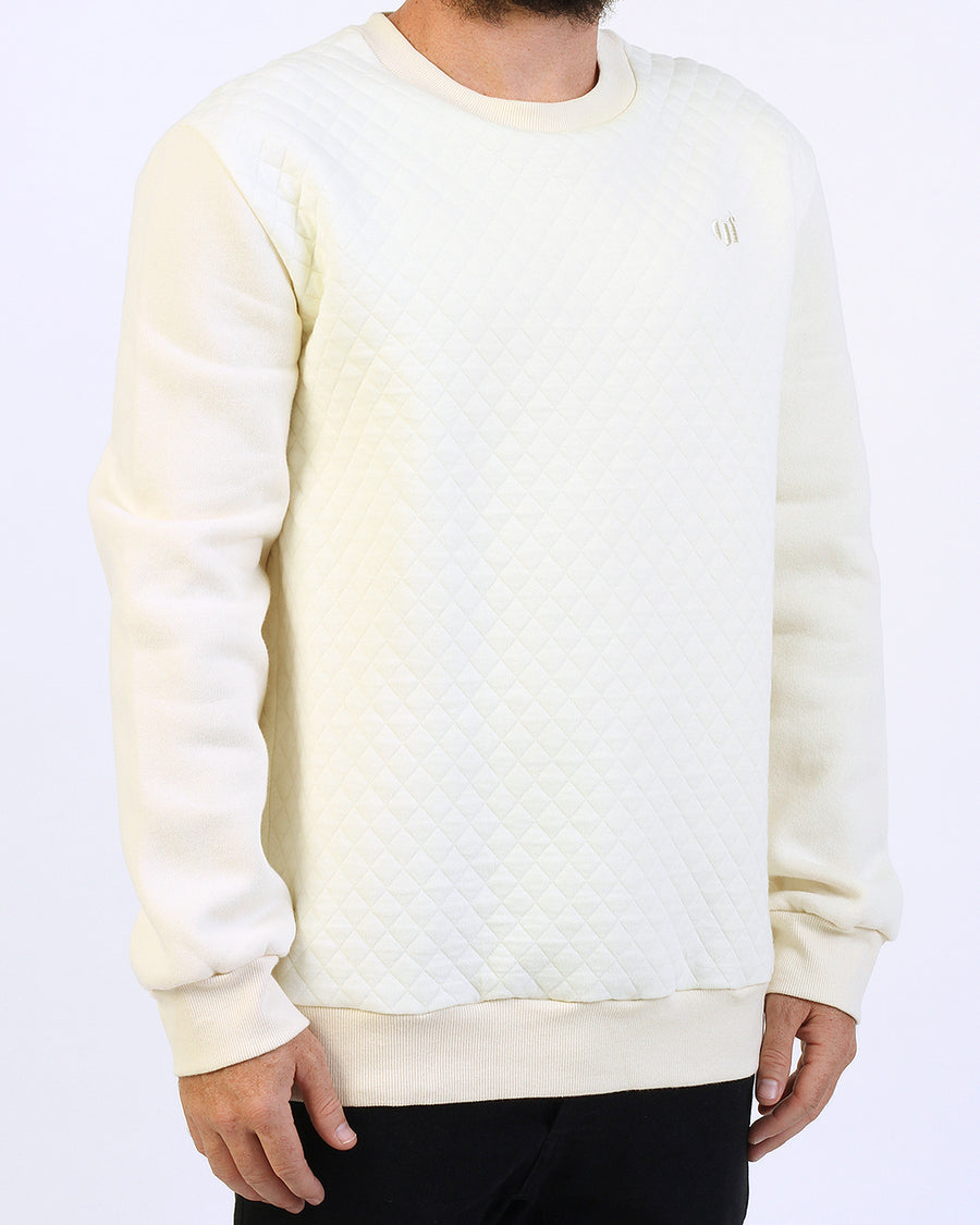 Quilted Crew Sand