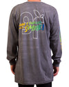 Burger Smile LS Tee Pigment Black