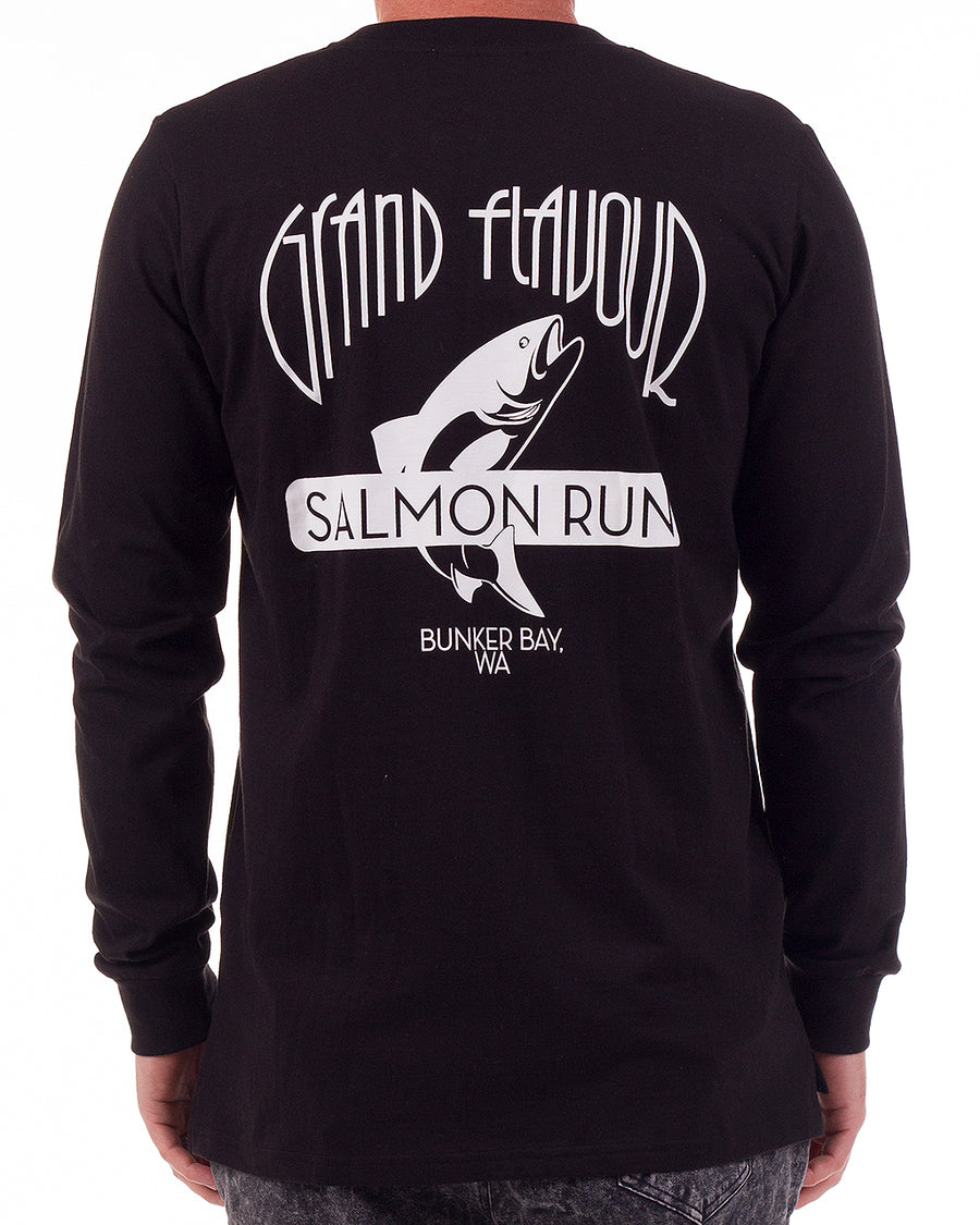 Sally the Salmon tee LS Black