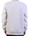 Quilted Crew Grey Marl