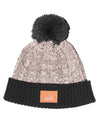 Cable Beanie Black/Grey