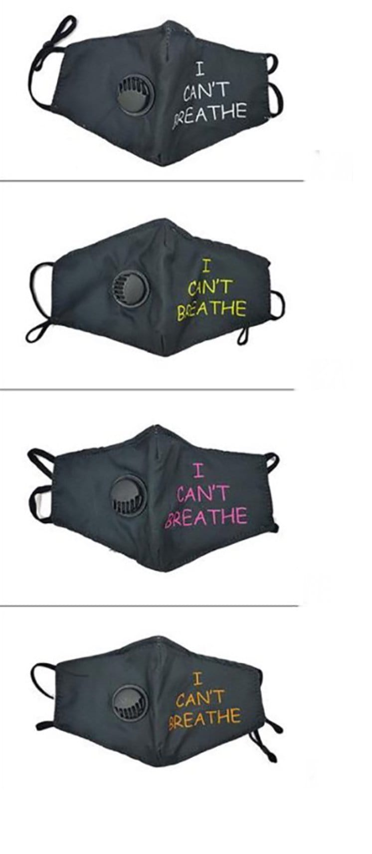 """I Can't Breathe"" Mask Ciara Jonee'"