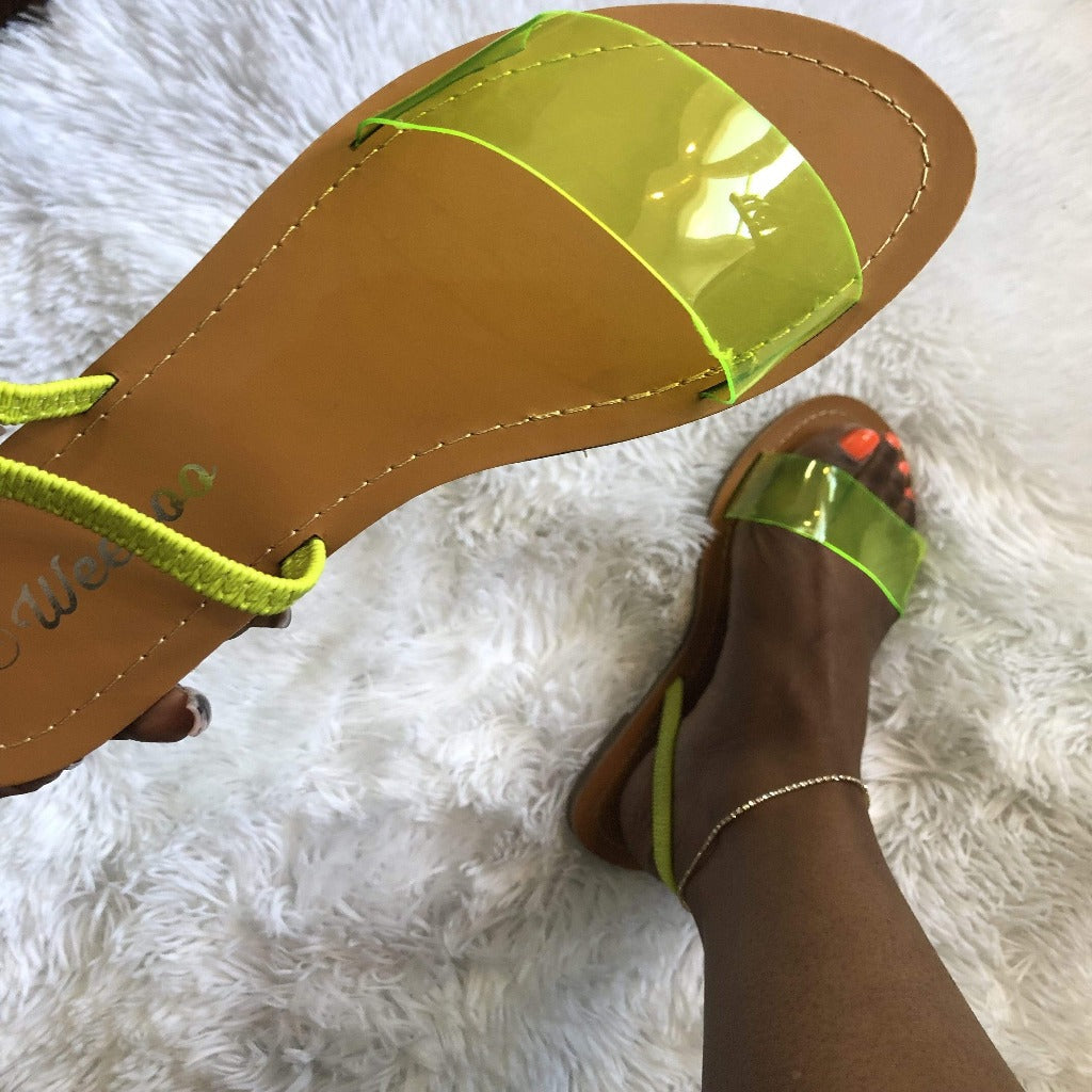 "The ""Lemon Lime"" Sandal Ciara Jonee'"