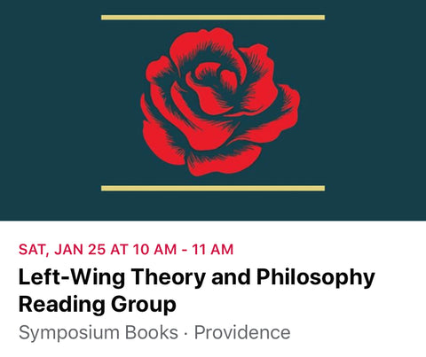 Left wing theory and philosophy book club providence event flyer