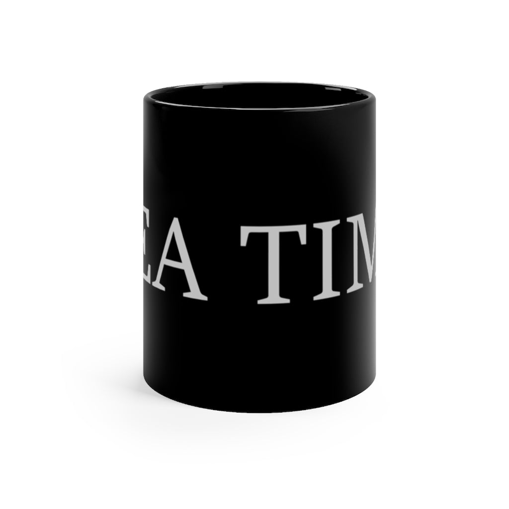 Tea Time Large Black 11oz Mug