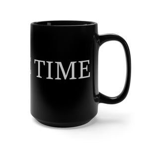 Coffee Time Large Black 15oz Mug