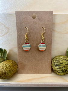 Round Striped Earrings