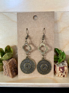 Antique Bronze Drop Earrings