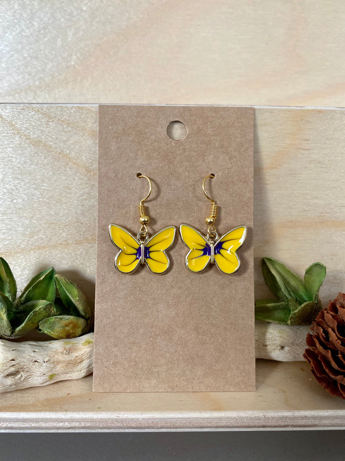 Butterfly Earrings (Yellow)