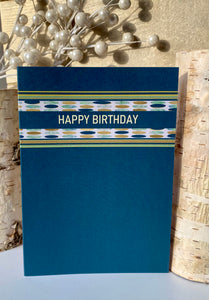 Happy Birthday Card | Stripes and Dots