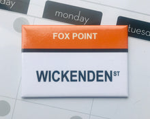 Wickenden St. Fox, Point Providence Rhode Island Fridge Magnet
