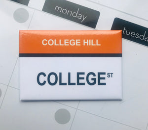 College St. College Hill, Providence Rhode Island Magnet