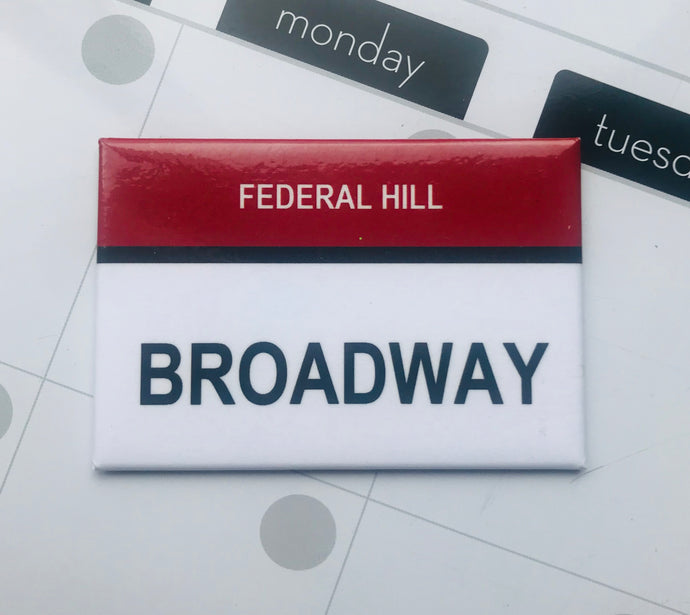 "Broadway Federal Hill ""The Hill"" Providence, Rhode Island Street Sign Magnet"