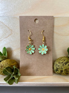 Daisy Flower Earrings (Assorted Colors, Yellow Center)