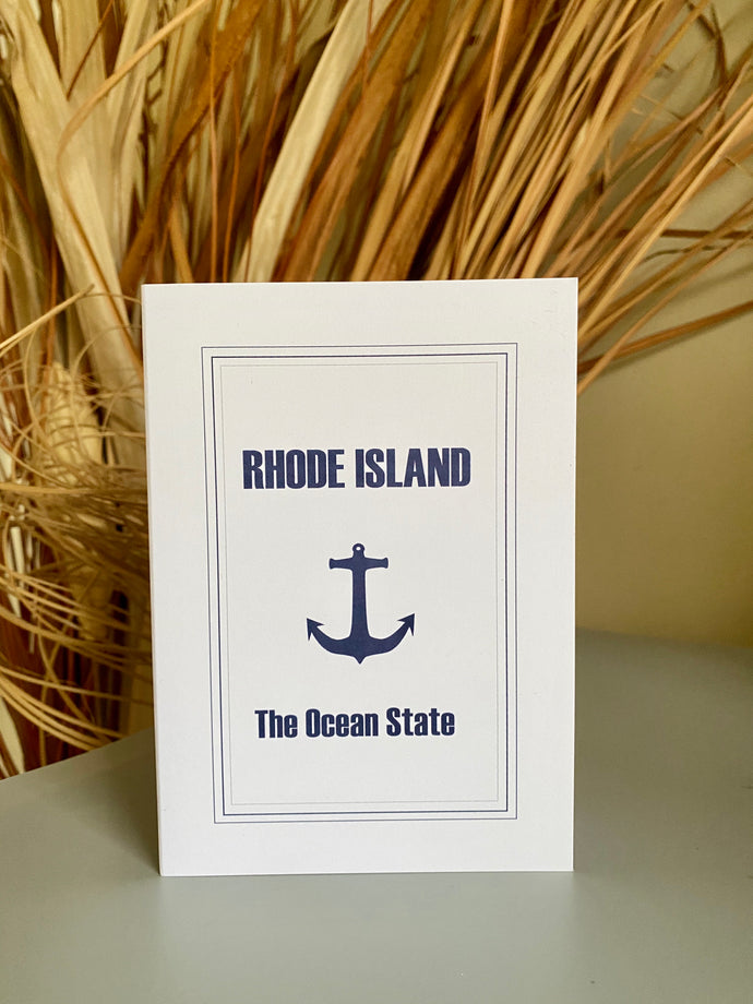 Rhode Island The Ocean State Greeting Card