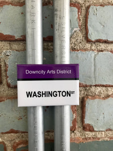 Washington St. Downcity Arts District Providence Rhode Island Magnet - Ree+Dot