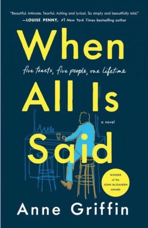 INDOWNCITY April Book of the Month: When All Is Said, by Anne Griffin