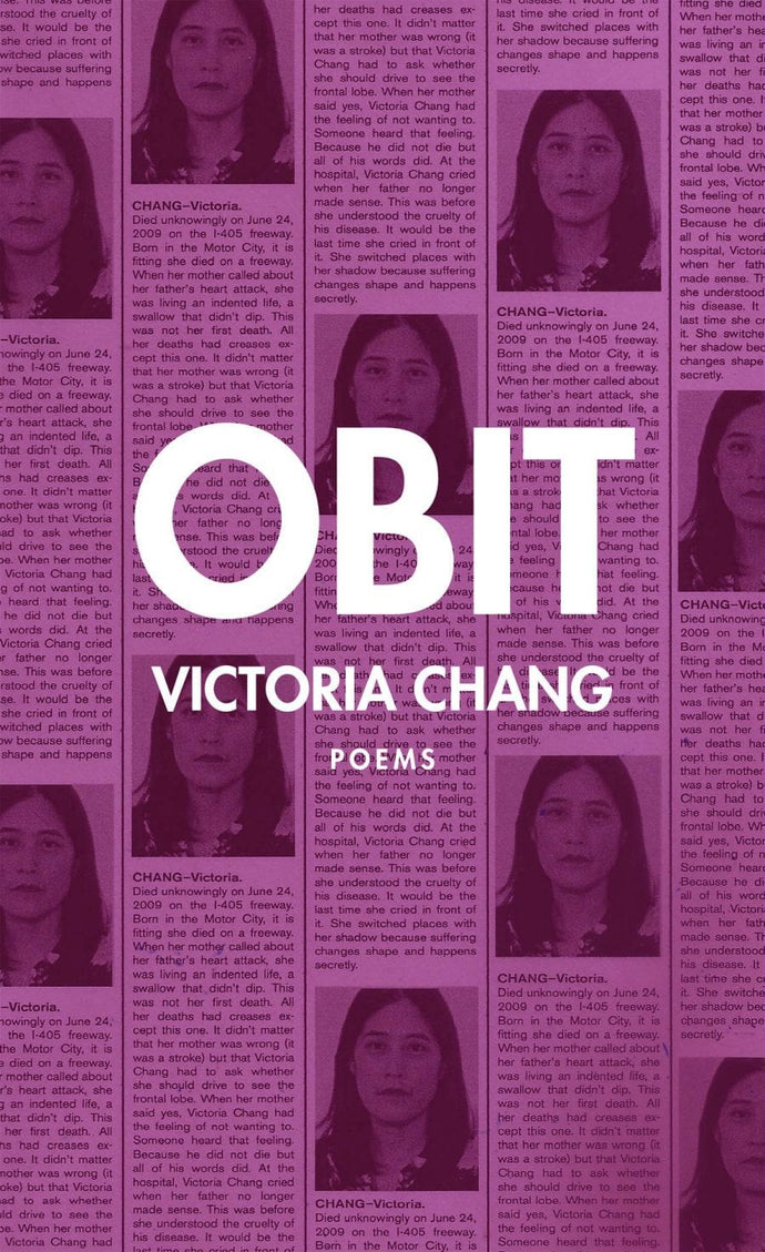 Obit, by Victoria Chang
