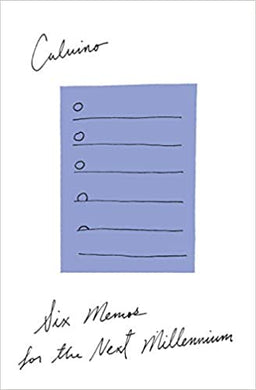 Six Memos for the Next Millennium, by Italo Calvino