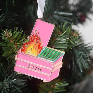 2020 Dumpster Fire Covid Christmas Ornament
