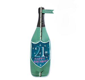 21st Birthday Wine Champagne Bottle Straw