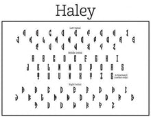 Haley Couples Monogram Rectangle Self-Inking Stamper or Hand Stamp